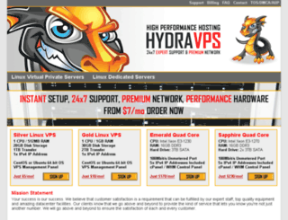 hydravps.com screenshot