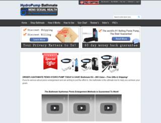 hydropumpbathmate.com screenshot