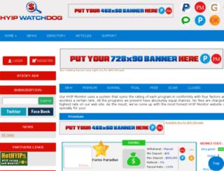 hyipwatchdog.org screenshot