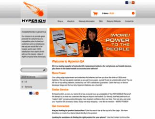 hyperionea.com screenshot