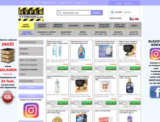 hypervyprodej.cz screenshot