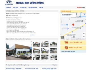 hyundaikinhduongvuong.bonbanh.com screenshot