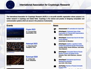 iacr.org screenshot
