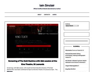 iainsinclair.org.uk screenshot
