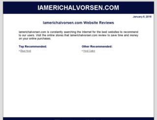 iamerichalvorsen.com screenshot