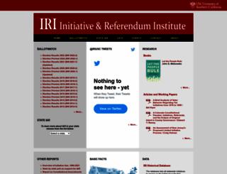iandrinstitute.org screenshot