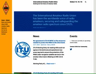 iaru.org screenshot