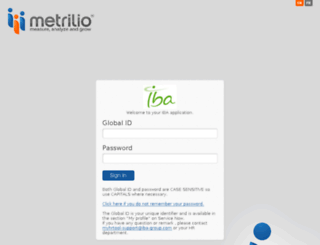 iba.metrilio.com screenshot