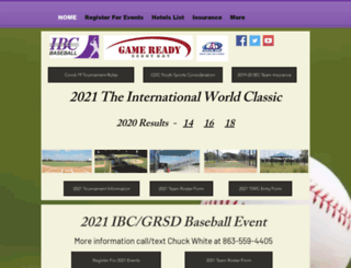 ibcbaseball.com screenshot