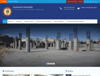 ibnesina.edu.af screenshot