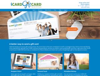 icardgiftcard.com screenshot