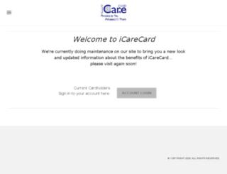 icarecard.org screenshot