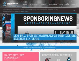 icefighters-leipzig.de screenshot