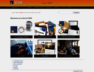 icem-pedagogie-freinet.org screenshot