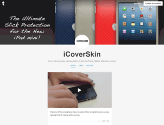 icoverskin.tumblr.com screenshot