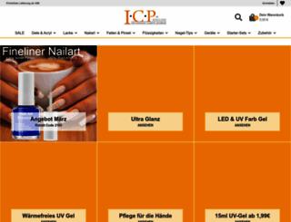 icp-nailcare.de screenshot