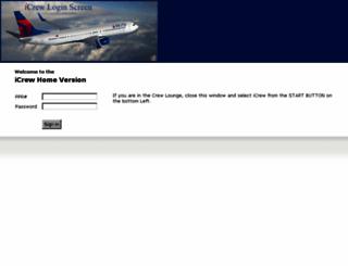 icrew.delta.com screenshot