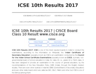 icse10thresults2017.in screenshot