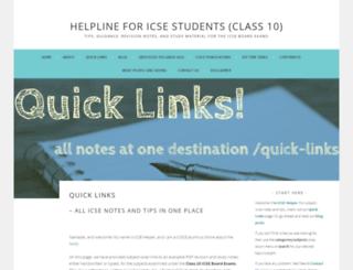 icsehelpline101.wordpress.com screenshot