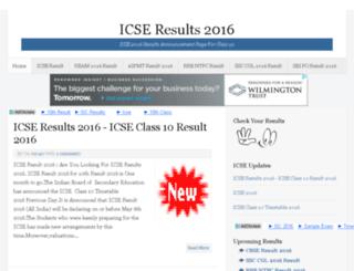 icseresults2016.com screenshot