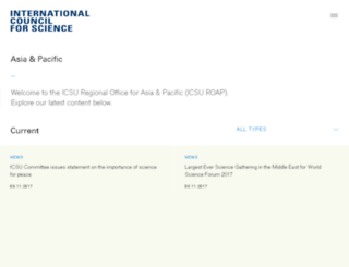 icsu-asia-pacific.org screenshot
