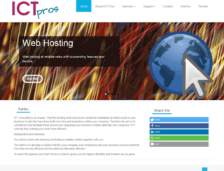 ict-pros.co.tz screenshot