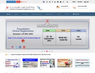 ict.edu.om screenshot