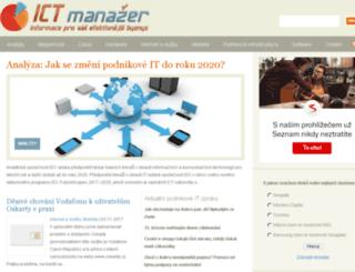 ictmanazer.cz screenshot