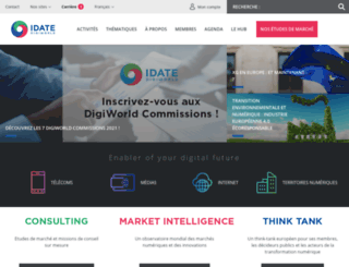 idate.org screenshot