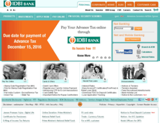 idbi.co.in screenshot