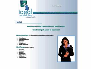 idealcandidates.co.za screenshot