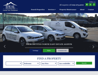 idealpropertiesne.co.uk screenshot