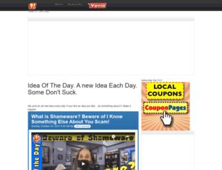 ideaoftheday.com screenshot