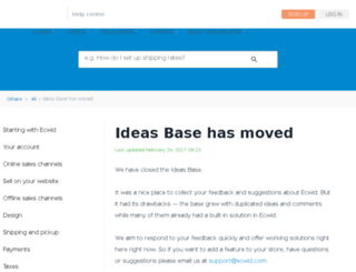 ideas.ecwid.com screenshot