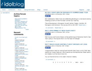 idolblog.com screenshot