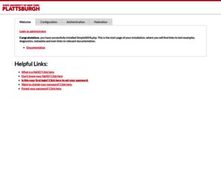 idp.plattsburgh.edu screenshot