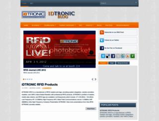 idtronic-rfid.blogspot.com screenshot