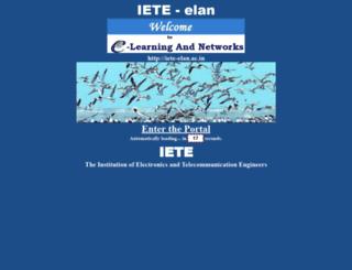 iete-elan.ac.in screenshot