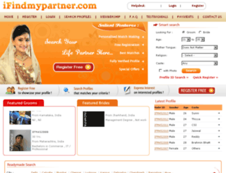 ifindmypartner.com screenshot