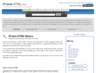 iframehtml.com screenshot