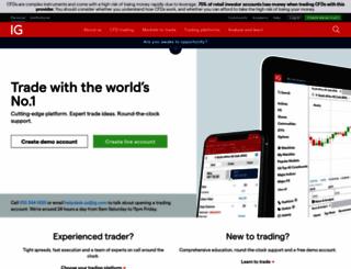 igmarkets.co.za screenshot