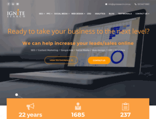 ignitesearch.com.au screenshot