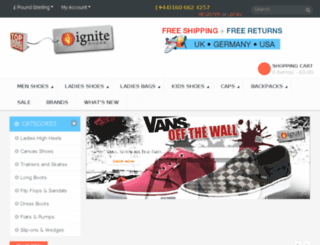igniteshoes.de screenshot