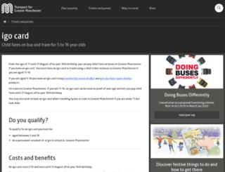 igo.tfgm.com screenshot