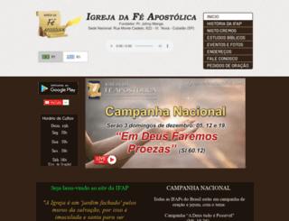 igrejadafeapostolica.com screenshot