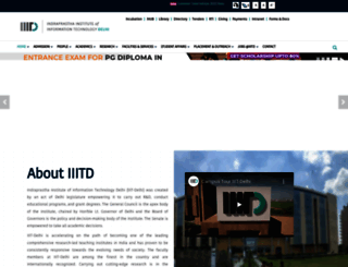 iiitd.ac.in screenshot