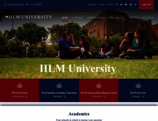 iilm.edu screenshot