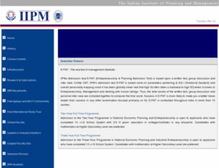 iipmadmissions.com screenshot