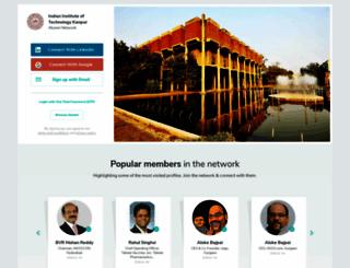 iitk.almaconnect.com screenshot