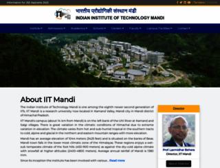 iitmandi.ac.in screenshot